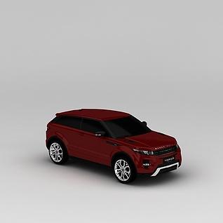 红色路虎3d模型3d模型