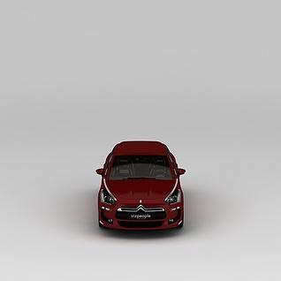 红色汽车3d模型