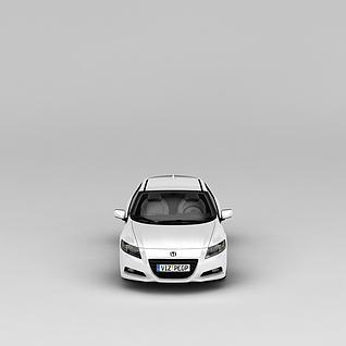 白色本田汽车3d模型3d模型