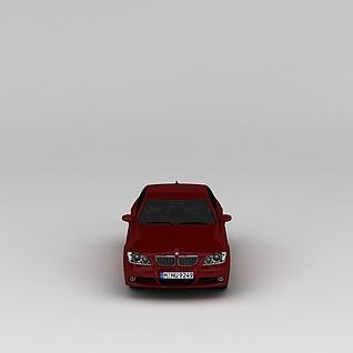 红色宝马汽车3d模型