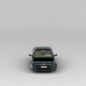 3d墨綠色<font class='myIsRed'>汽車</font>模型