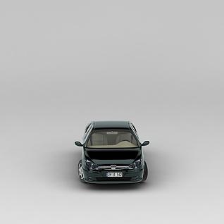 墨绿色汽车3d模型3d模型