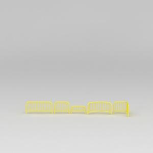 3d道路护栏模型