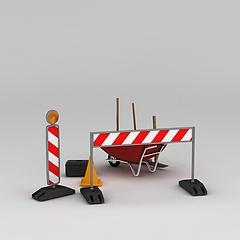 道路设施模型3d模型