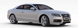 3d奧迪銀色<font class='myIsRed'>汽車</font>模型