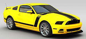 3d黃色汽車模型
