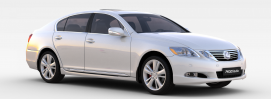 雷克萨斯银色<font class='myIsRed'>汽车</font>3d模型
