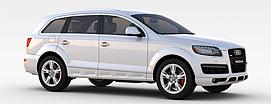 奥迪银色商务车3d模型