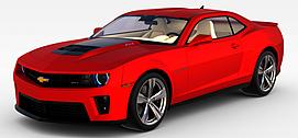 雪佛兰红色<font class='myIsRed'>汽车</font>3d模型