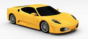 3d黃色<font class='myIsRed'>跑車</font>模型