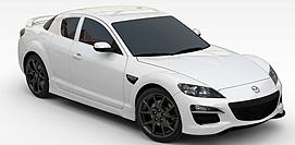 马自达白色<font class='myIsRed'>汽车</font>3d模型