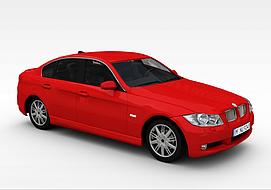 红色宝马<font class='myIsRed'>汽车</font>3d模型