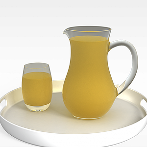3d橙汁模型