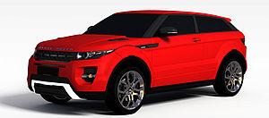 紅色路虎模型3d模型