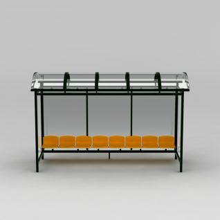 公交站台休息椅模型3d模型