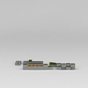 道路绿化模型