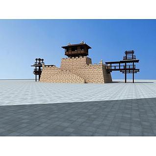 观景台3d模型