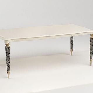 简欧餐桌3d模型