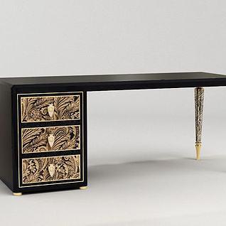 贵气书桌3d模型