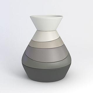 陶艺花瓶3d模型