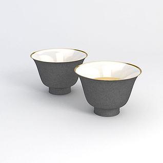 陶瓷茶杯3d模型
