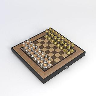 棋盘3d模型