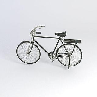 大梁自行车3d模型