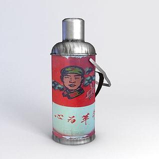 怀旧红军热水壶3d模型