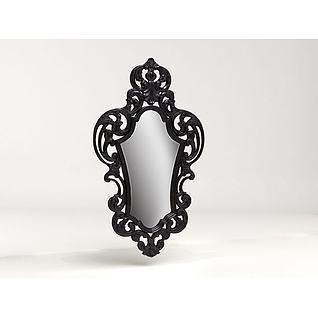 铁艺镜子3d模型