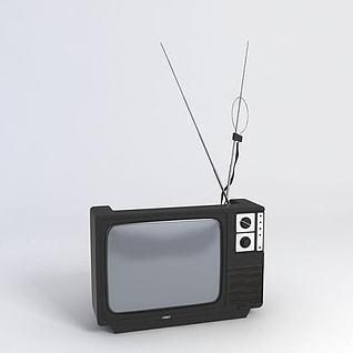 老旧电视3d模型