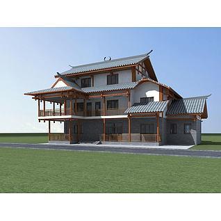 苗族民居3d模型