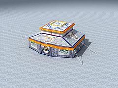 藏式帳篷模型