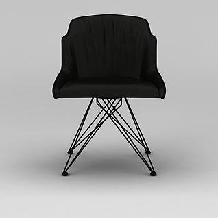 黑色简约椅子3d模型3d模型