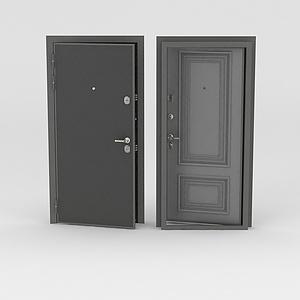3d黑色公寓<font class='myIsRed'>门</font>模型