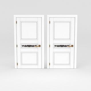 白色室内门3d模型