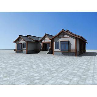 中式民居3d模型