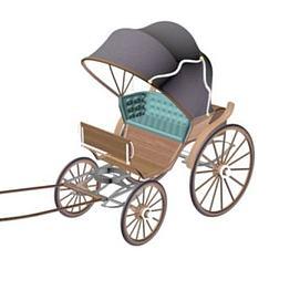 民国黄包车模型