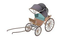 民国黄包车模型3d模型