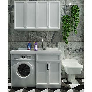 智能家用洗衣机3d模型
