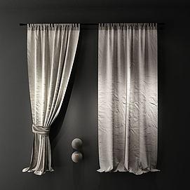 遮光布窗帘模型