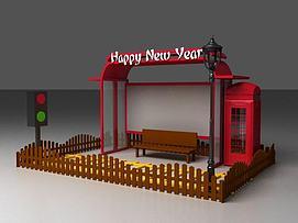 新年美陈3d模型