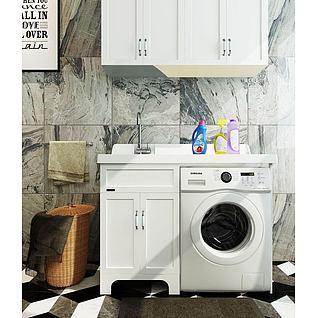 洗衣机柜3d模型