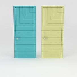 糖果色室内门3d模型