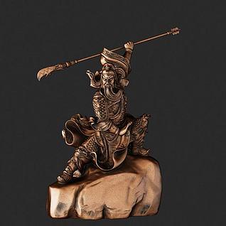 关公铜像3d模型3d模型
