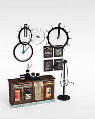 工业风装饰柜陈设品组合模型3d模型
