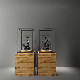 铁艺马雕塑3d模型