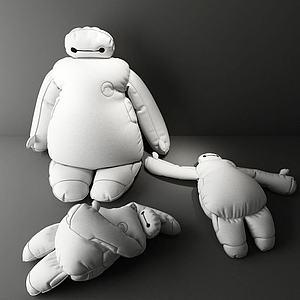 大白玩偶模型