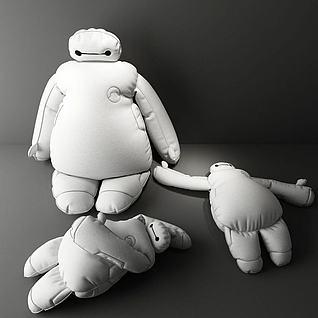 大白玩偶3d模型