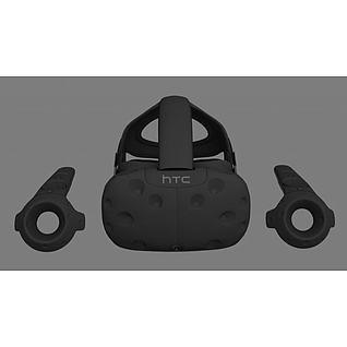 htcVR头盔手柄3d模型