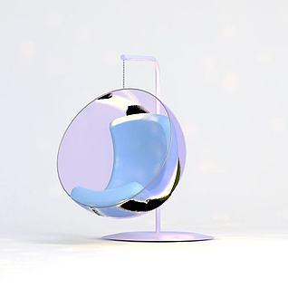 玻璃吊椅3d模型